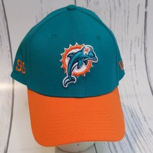 Miami Dolphins New Era Fitted Hat Cap Large XL New